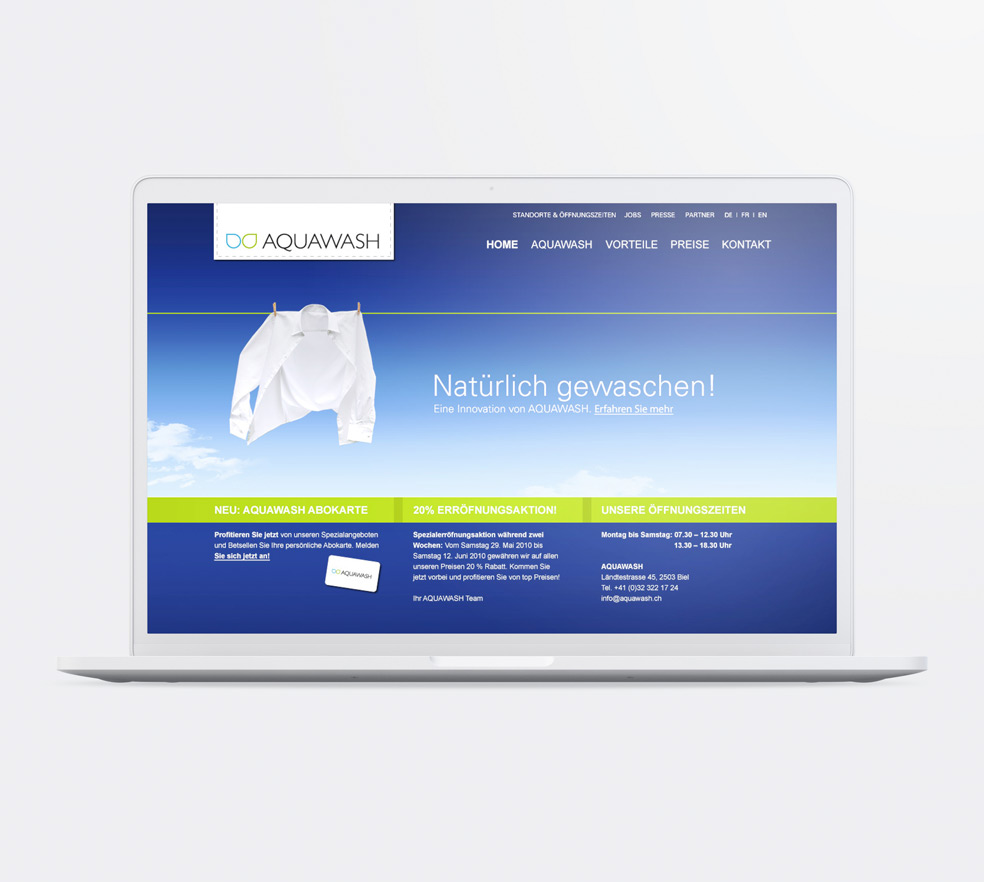 AQUAWASH – Corporate Design